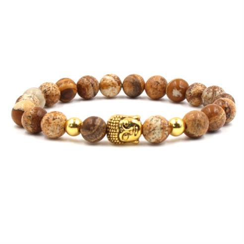 Bracelet bouddha et perles de jaspe