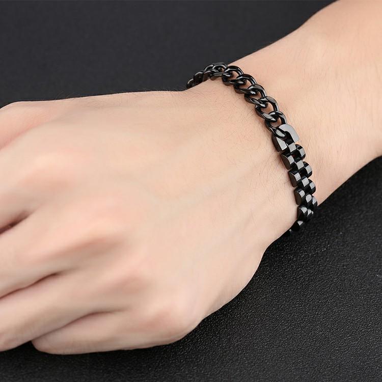 Bracelet en acier inoxydable noir