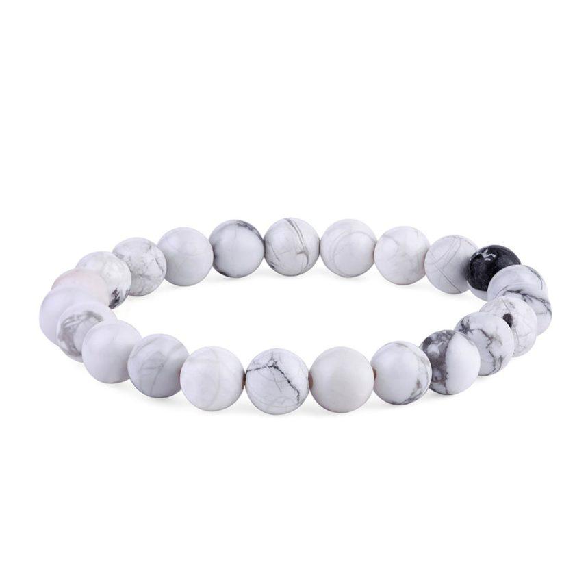 Bracelet en perles de howlite
