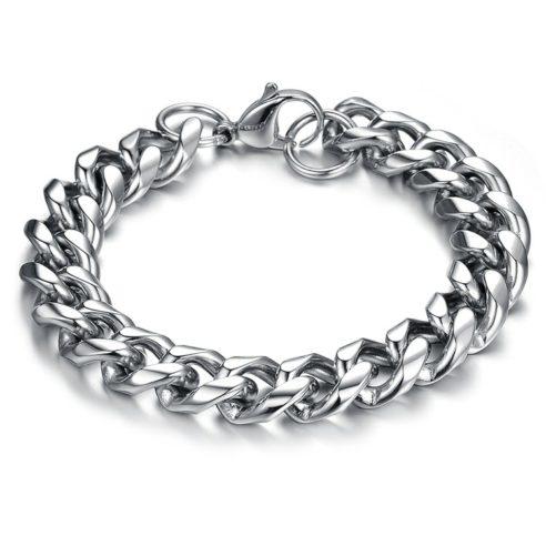 Bracelet en acier inoxydable couleur argent