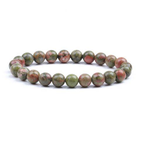 Bracelet pour homme en perles d'unakite.