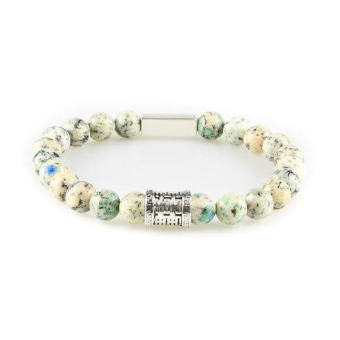 Bracelet homme en pierre de granite K2 et argent 925