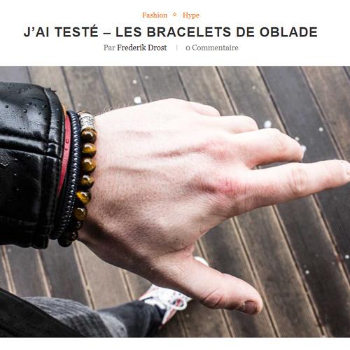 Hype & Style apprécie les bracelets Oblade
